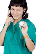 attractive lady doctor - stock photo