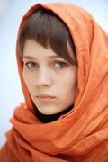 Stock Photo of attractive woman with veil