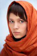attractive woman with veil - stock photo