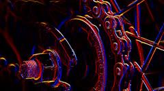 Trippy Bike Chain One - stock footage