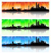 Shanghai skyline sarja Piirros