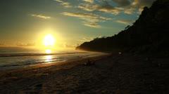 Sunset in Havelock island. Andaman islands, India - stock footage