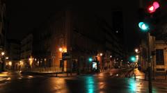 Spain, Madrid - Street 16. Plaza Jacinto de Benavente, Calle Atocha Stock Footage
