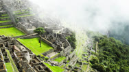 Stock Video Footage of Machu Picchu, the ancient Inca city in the Andes, Peru