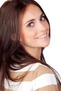 Stock Photo of beautiful brunette girl