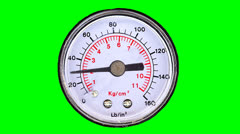 Manometer on green screen Stock Footage