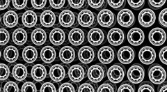Rotating screws hypnotizing background (semi 3D) - stock footage