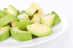 cutted avacado - stock photo