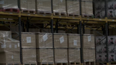 Crates and boxes for electrical appliances - stock footage