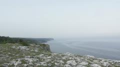 Coastline on the island Gotland Stock Footage