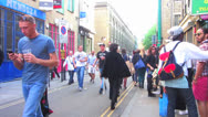Stock Video Footage of London - Street Scene, Brick Lane (Part 3)
