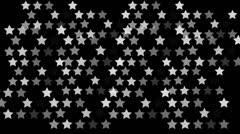 Animated star pattern background Stock Footage