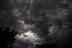 High Res Photo - Severe Weather - Rotating Clouds Above - stock photo