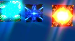 Kaleidoscope Trio Effect Stock Footage