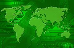 Kansainvälinen Internet-yhteydet Piirros