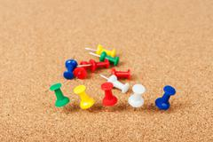 Stock Photo of group of thumbtacks