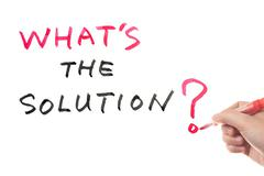 Stock Photo of what's the solution?
