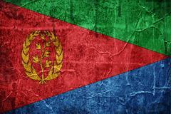flag of eritrea - stock illustration