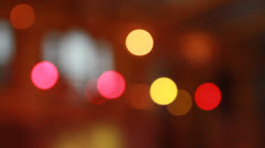 Lights spots out of focus - stock footage
