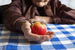 Stock Photo of apple in hand