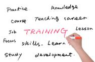 Stock Photo of training related words group