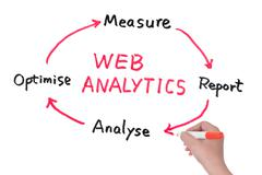 web analytics diagram - stock photo