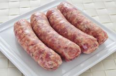 chorizos criollos, typical latin american sausages - stock photo