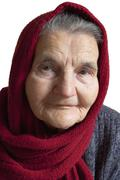 Stock Photo of portrait of an elderly woman