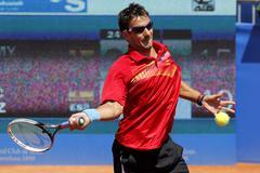 Spanish tennis player Tommy Robredo - stock photo