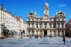 famous terreaux square - stock photo