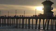 The Pier at Huntington Beach Stock Footage
