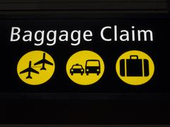 Airport baggage claim sign Stock Photos