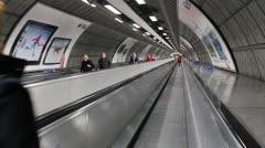 People walking through London tube - London Metro, UK - England Stock Footage