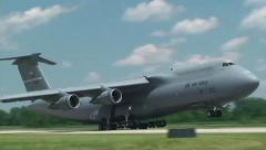 Ohio air national guard c5 galaxy touch and go Stock Footage