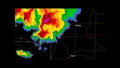 2011 Joplin, Missouri Tornado Weather Radar Stock Footage