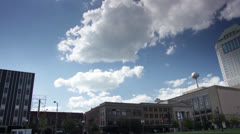 Columbus ohio skyline pan Stock Footage