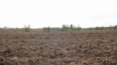 Freshly plowed field Stock Footage
