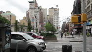 Stock Video Footage of view from trevi deli at union square new york new york