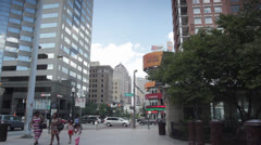Stock Video Footage of downtown columbus ohio high and broad streets