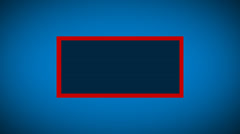 Rectangle box with changing centre color Stock Footage