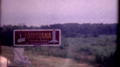 8mm film louisiana state sign 1960s traveling travel vintage old - stock footage