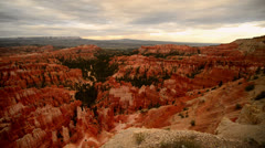 Bryce Canyon Dolly LM01 Inspiration Point Sunsest Stock Footage