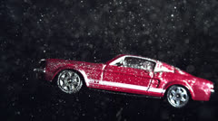MODEL CAR SPINNING IN SLOW MOTION Stock Footage