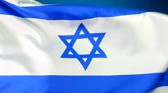 Israeli flag Stock Footage