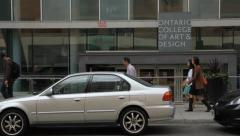 Entrance to OCAD. Stock Footage