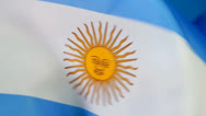 Stock Video Footage of Argentinian flag