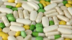 Pills. Medium shot. Stock Footage