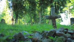 Stock Video Footage of Stone grave