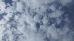 Rotating cloudy sky Stock Footage