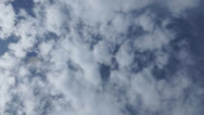Stock Video Footage of Rotating cloudy sky